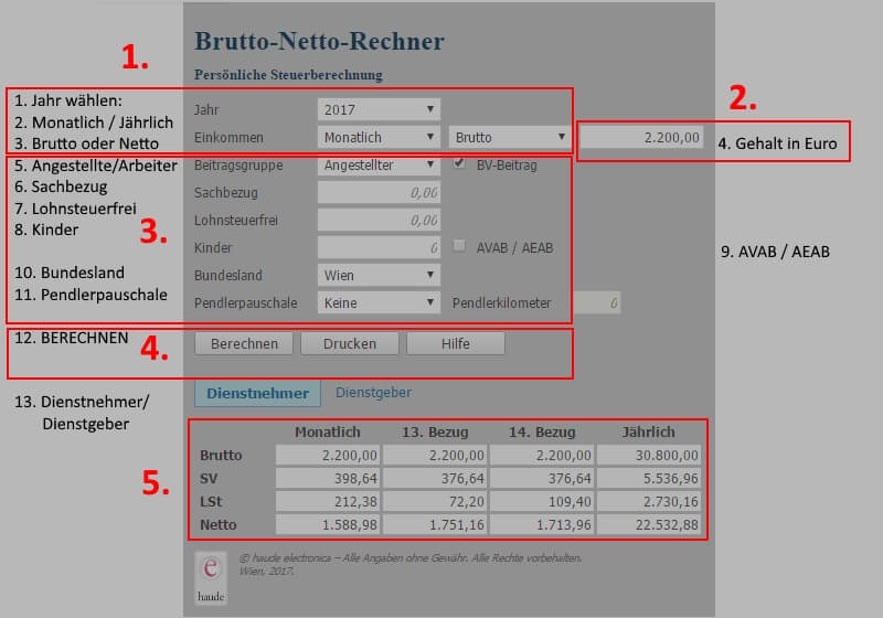 Netto Lohn Berechnen : brutto netto rechner gehalt einfach online berechnen ~ Themetempest.com Abrechnung