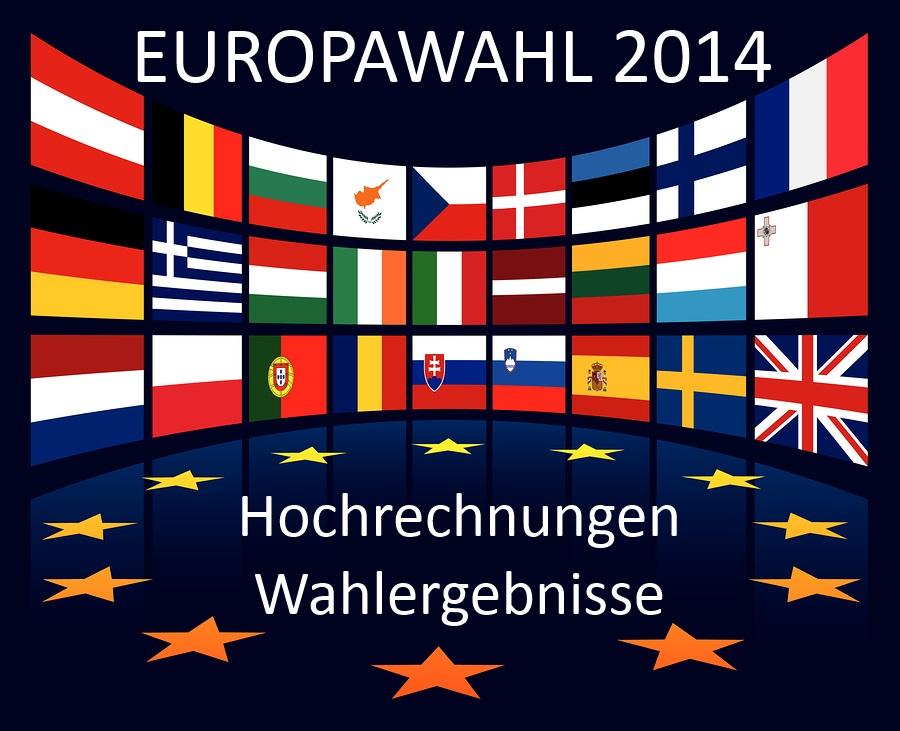 Europawahl 2014 Hochrechnungen Wahlergebnisse