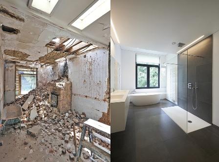 Badezimmerrenovierung: Vorher und Nachher