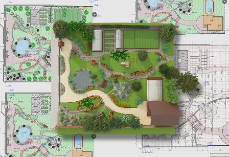 Ein neuer Garten wird am besten mit einem Computerprogramm geplant und visualisiert