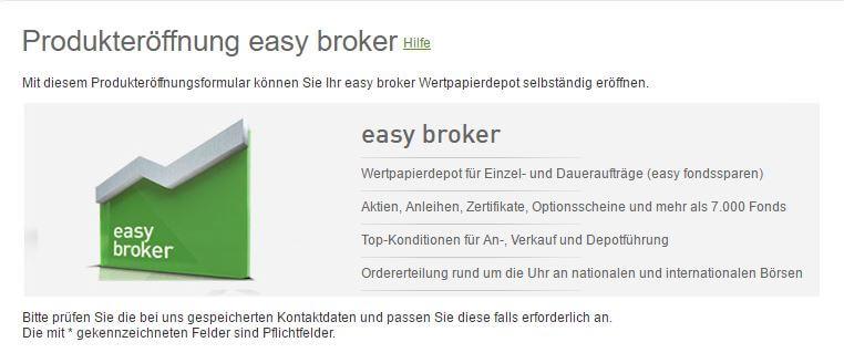 Aktiendepot easybank Österreich eröffnen - Produkteröffnung