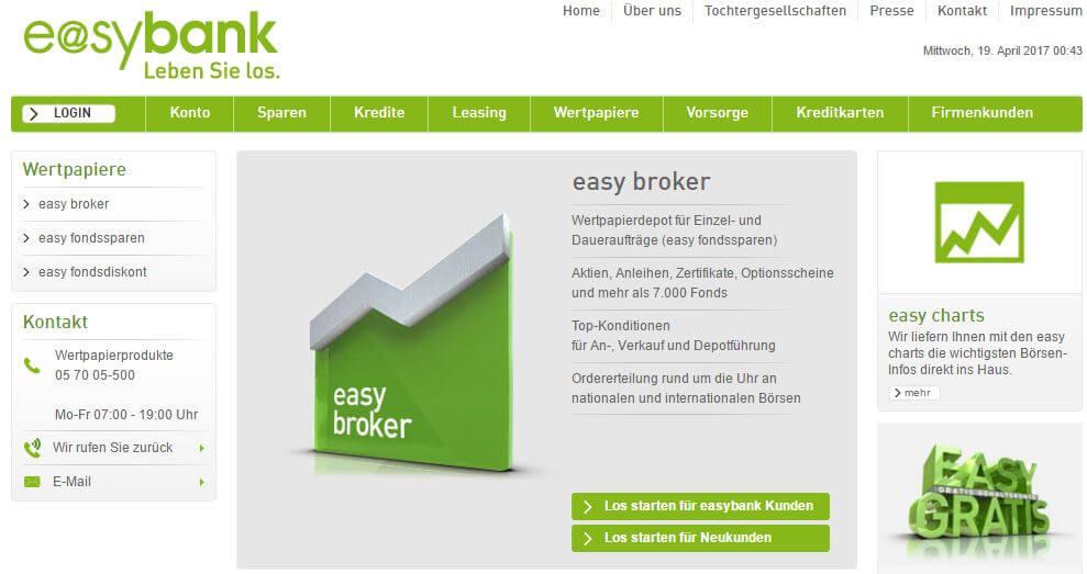 So wird ein Aktiendepot bei der Easybank Österreich eröffnet