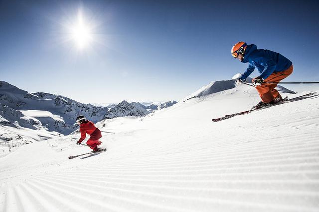 Verdienst eines Skifahrers